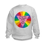 RELIGION OFF CIVIL RIGHTS Kids Sweatshirt