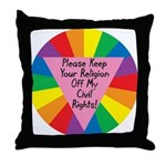 RELIGION OFF CIVIL RIGHTS Throw Pillow