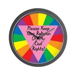 RELIGION OFF CIVIL RIGHTS Wall Clock