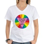 RELIGION OFF CIVIL RIGHTS Women's V-Neck T-Shirt