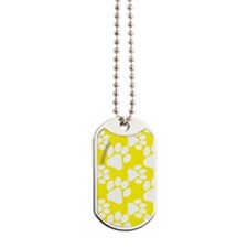 Dog Paws Yellow Dog Tags