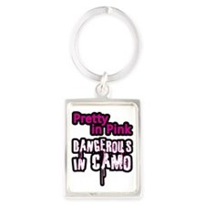 Pretty in Pink..Dangerous in Cam Portrait Keychain