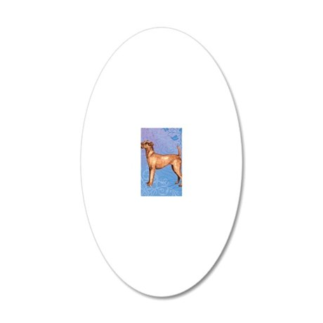 irish terrier-keyback1 20x12 Oval Wall Decal