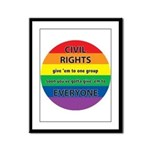 CIVIL RIGHTS EVERYONE Framed Panel Print