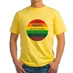 CIVIL RIGHTS EVERYONE Yellow T-Shirt