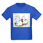 White Japanese Bantams Kids Dark T-Shirt
