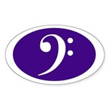 Bass Clef Sticker (purple)