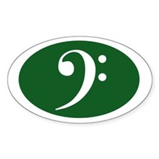 Bass Clef Sticker (green)