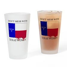 Texas Women Drinking Glass