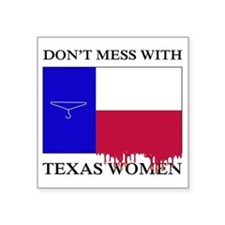 "Texas Women Square Sticker 3"" x 3"""