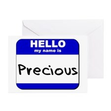 hello my name is precious  Greeting Cards (Package