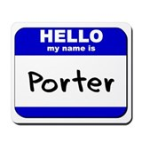 hello my name is porter  Mousepad