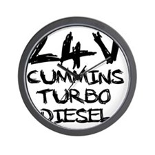24 V Cummins Turbo Diesel Wall Clock