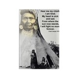 Chief Joseph Rectangle Magnet