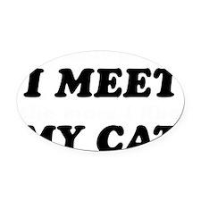 Cat lover designs Oval Car Magnet