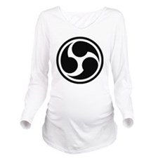 666 Triple Six (blac Long Sleeve Maternity T-Shirt