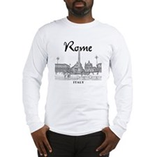 Rome_10x10_v1_Black_Piazza del Long Sleeve T-Shirt