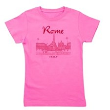 Rome_10x10_v1_Red_Piazza del Popolo Girl's Tee