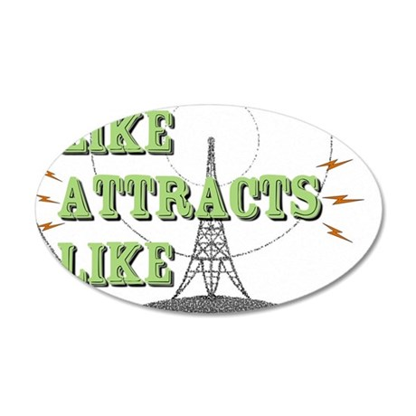 Like Attracts Like 35x21 Oval Wall Decal