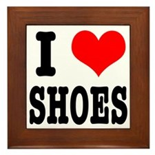 I Heart (Love) Shoes Framed Tile