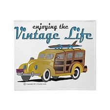enjoying the vintage life Throw Blanket