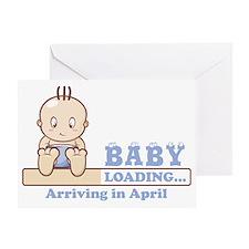 Arriving in April Greeting Card