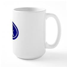 Blue 5k Oval Mug