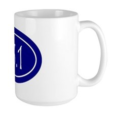 Blue 13.1 Oval Mug