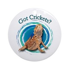 Bearded Dragon Got Crickets II Ornament (Round)