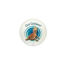 Bearded Dragon Got Crickets II Mini Button (10 pac