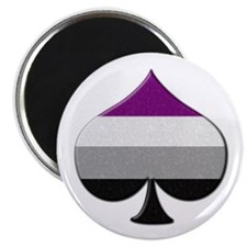 Spade Symbol - Asexual Pride Flag Magnets