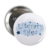 """Literary Diva"" [blue] Button"