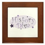 """History Diva"" [purple] Framed Tile"