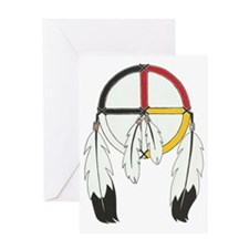 Feathered Medicine Wheel Greeting Card