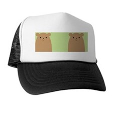 Peekaboo Brown Bear Trucker Hat