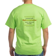 Hydrocephalus Pride (backprint) Green T-Shirt