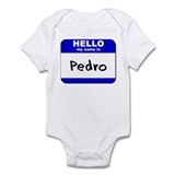 hello my name is pedro  Onesie