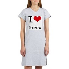I Love Green Women's Nightshirt