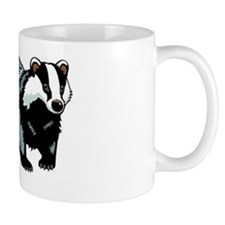 Coloured Badger Mug