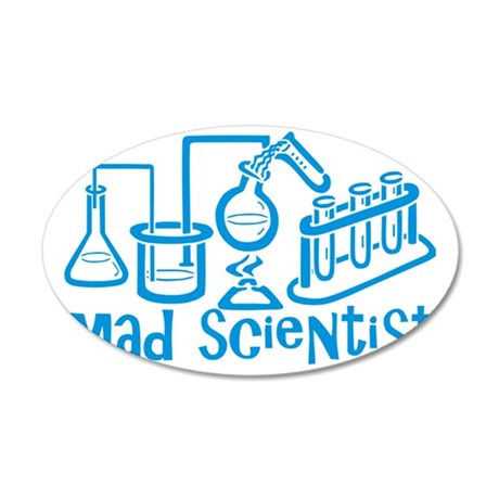 Mad Scientist 35x21 Oval Wall Decal