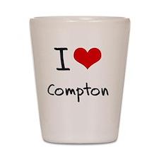 I Love Compton Shot Glass