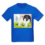 Porcelain d'Uccle Rooster and Kids Dark T-Shirt