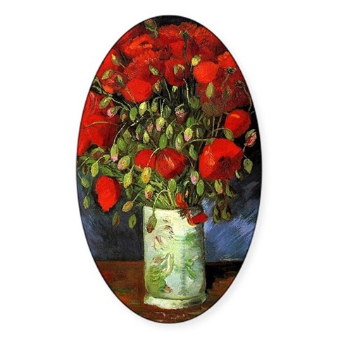 Vase with Red Poppies by Van G Decal