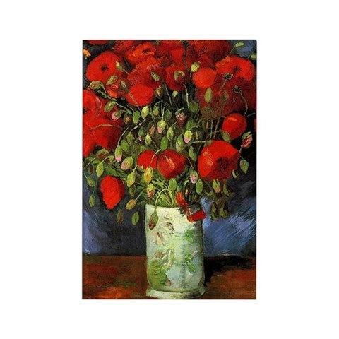 Vase with Red Poppies by Van Gogh Magnet