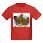 GL Wyandotte Rooster and Hen Kids Dark T-Shirt