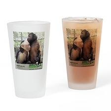 Monkey Love Drinking Glass