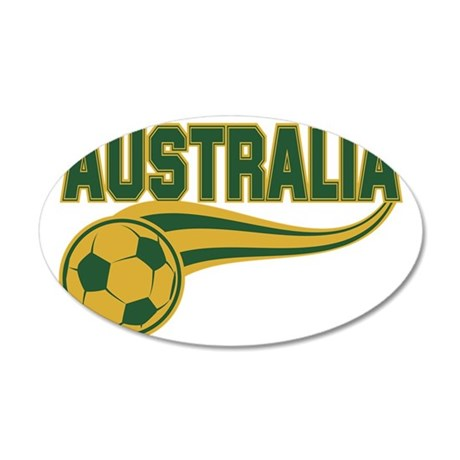 Soccer ball with the word Au 35x21 Oval Wall Decal