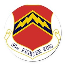 56th FW Round Car Magnet