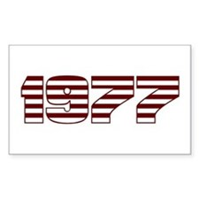 1977, 30th Rectangle Decal