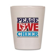 Peace Love and Cheer Shot Glass